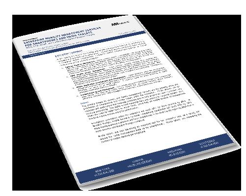 Enterprise Mobility Management Services for Smartphones and Media Tablets Image