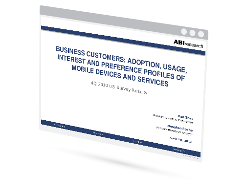 Business Customers: Adoption, Usage, Interest and Preference Profiles of Mobile Devices and Services Image