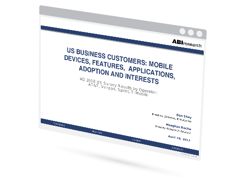 US Business Customers: Mobile Devices, Features,  Applications, Adoption and Interests Image