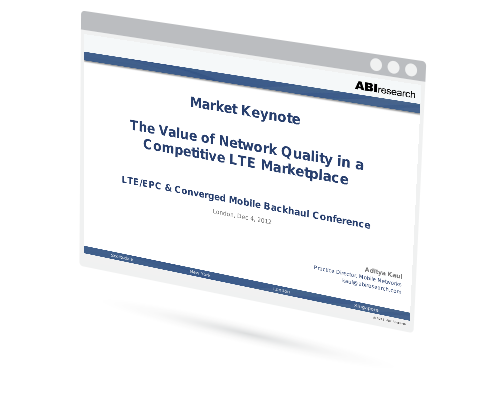The Value of Network Quality in a Competitive LTE Marketplace Image