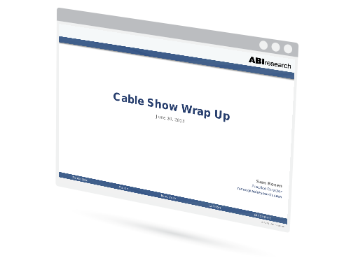 Cable Show Wrap Up Image