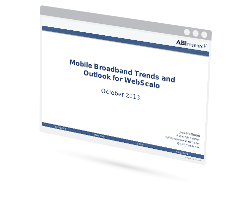 Mobile Broadband Trends and Outlook for WebScale Image