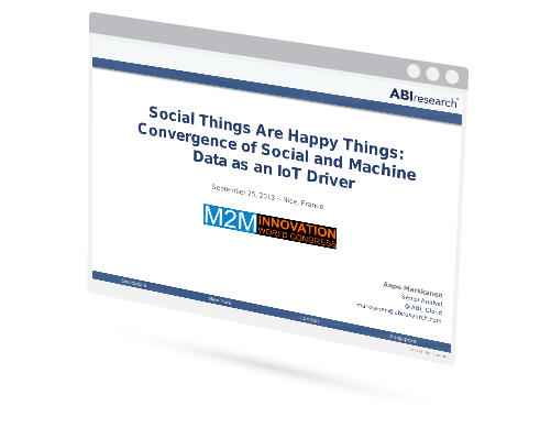 Social Things Are Happy Things: Convergence of Social and Machine Data as an IoT Driver Image