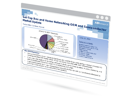 Set-Top Box and Home Networking OEM and Semiconductor Market Update Image