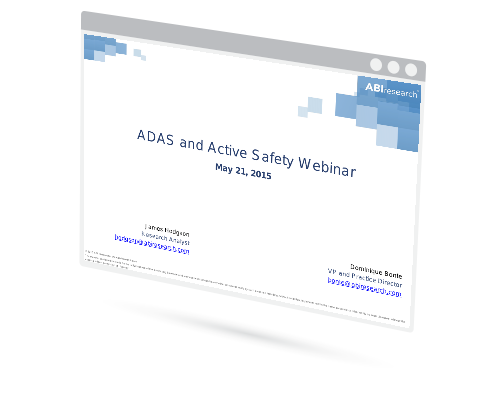 Webinar: ADAS and Active Safety Image