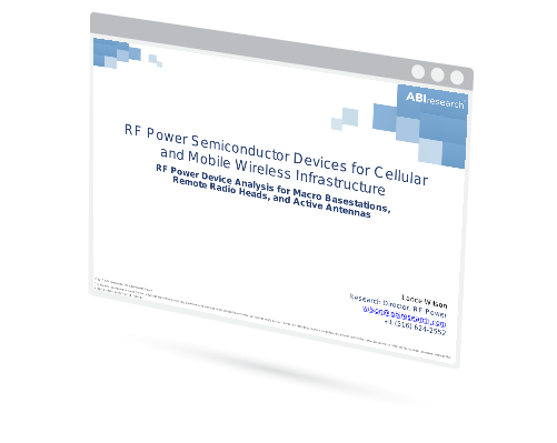 RF Power Semiconductor Devices for Cellular and Mobile Wireless Infrastructure: RF Power Device Analysis for Macro Basestations, Remote Radio Heads, and Active Antennas Image