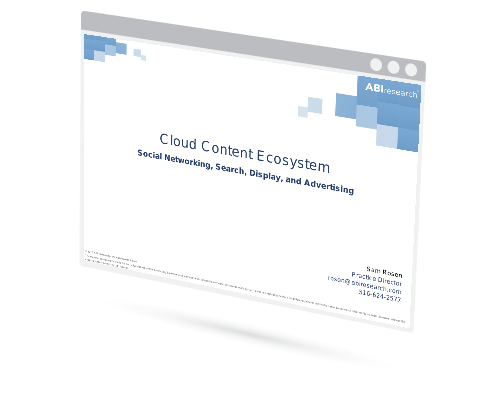 Cloud Content Ecosystem: Social Networking, Search, Display, and Advertising Image