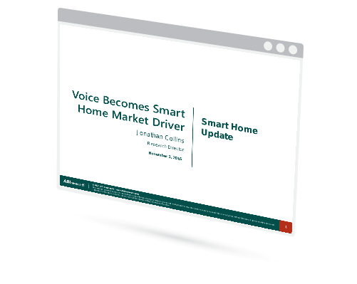 Voice Becomes Smart Home Market Driver Image