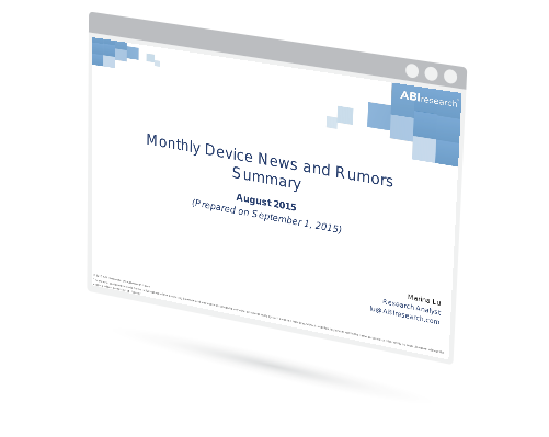 August 2015 Mobile Device News and Rumors Summary Image