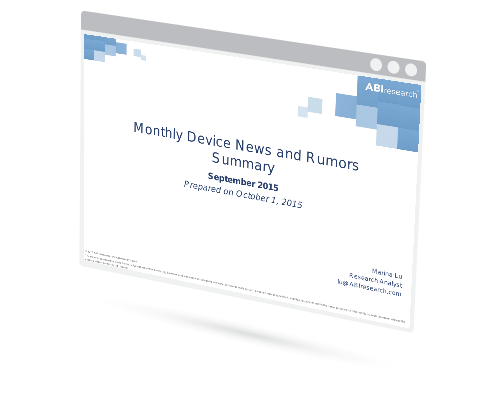 September 2015 Mobile Device News and Rumors Summary Image