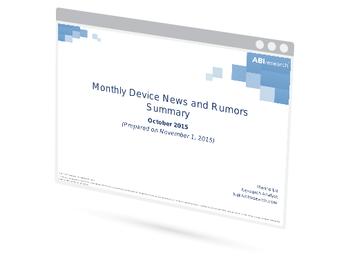 October 2015 Mobile Device News and Rumors Summary Image