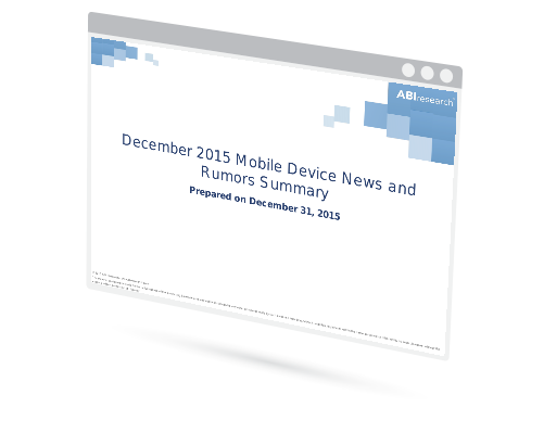 December 2015 Mobile Device News and Rumors Summary Image
