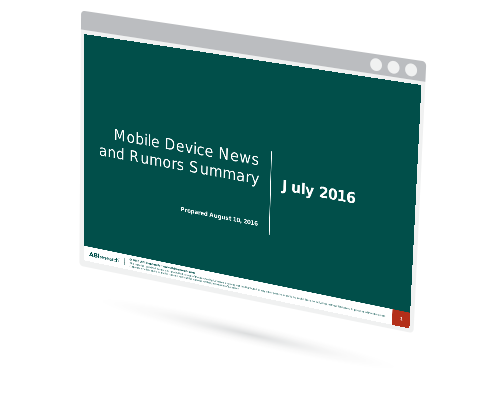 July 2016 Mobile Device News and Rumors Summary Image