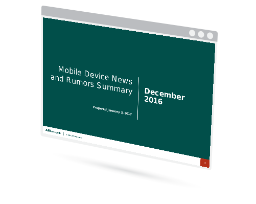December 2016 Mobile Device News and Rumors Summary Image