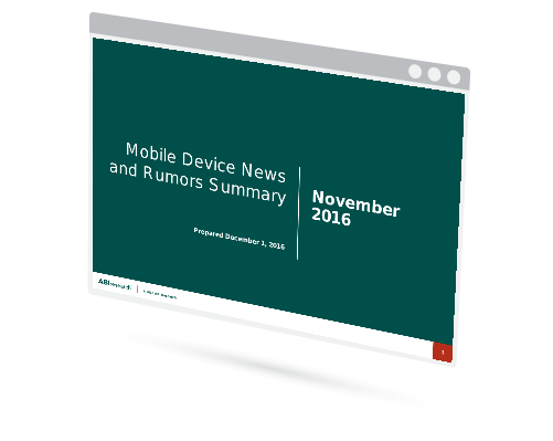 November 2016 Mobile Device News and Rumors Summary Image
