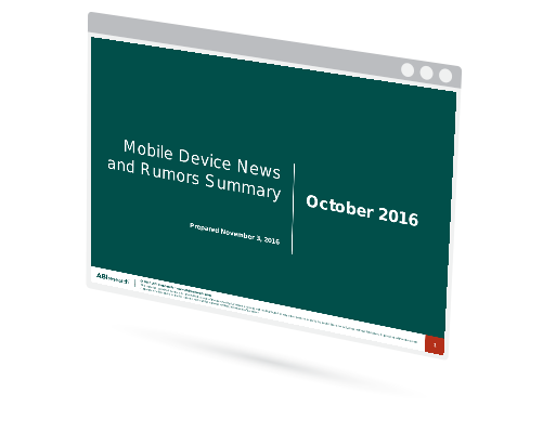 October 2016 Mobile Device News and Rumors Summary Image