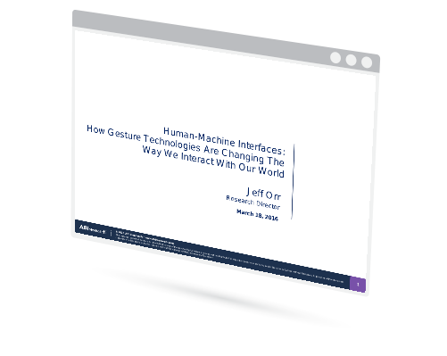 Webinar  - Human-Machine Interfaces: How Gesture Technologies Are Changing The Way We Interact With Our World Image