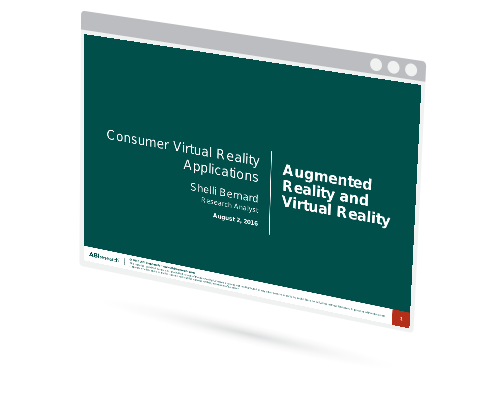 Consumer Virtual Reality Applications Image