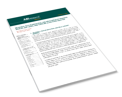 Wearable Tech in Industrial and Field Services Markets: Devices, Use Cases, and Supplier Ecosystem Analysis Image
