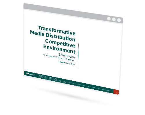 Transformative Media Distribution Competitive Environment Image