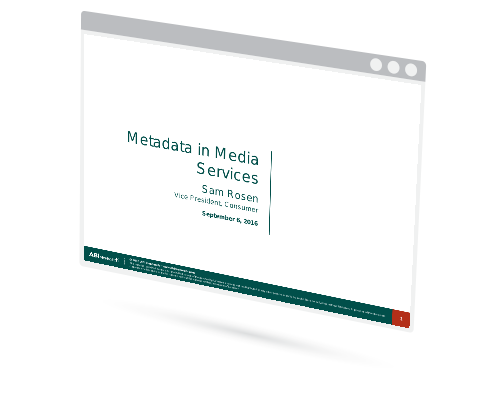 Metadata in Media Services Image