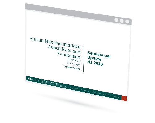 Semiannual Update Report: Human-Machine Interface Attach Rate and Penetration Image