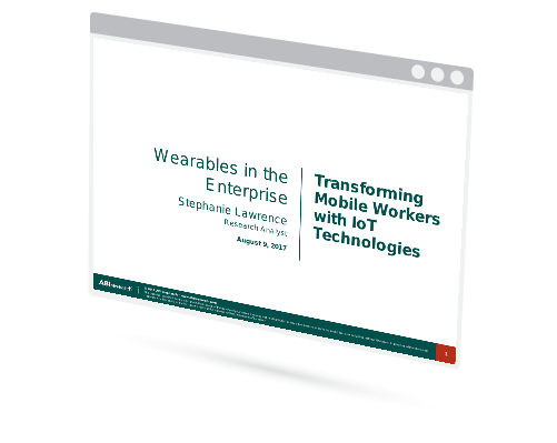 Wearables in Enterprise  - Transforming Mobile Workers with IoT Technologies Image