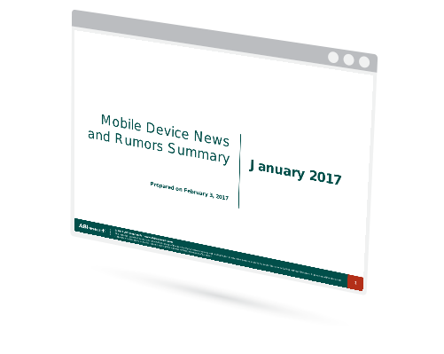 January 2017 Mobile Device News and Rumors Summary Image