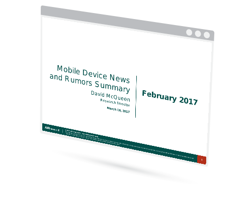 February 2017 Mobile Device News and Rumors Summary Image