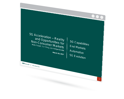 Webinar: 5G Acceleration – Reality and Opportunities for the Non-Consumer Markets Image