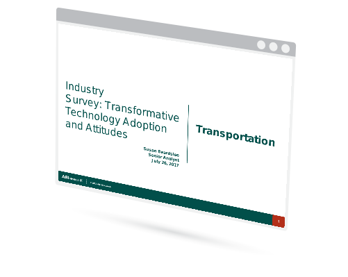 Industry Survey: Transformative Technology Adoption and Attitudes - Transportation Image