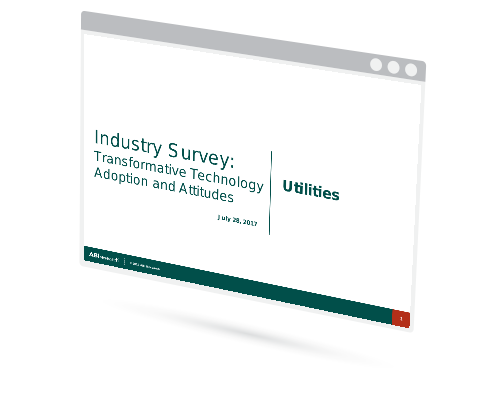 Industry Survey: Transformative Technology Adoption and Attitudes - Utilities Image