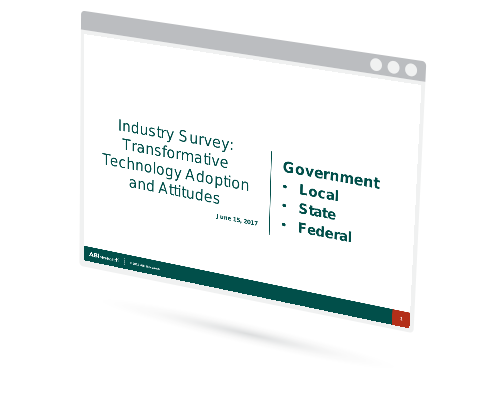 Industry Survey: Transformative Technology Adoption and Attitudes - Local, State, and Federal Government Image