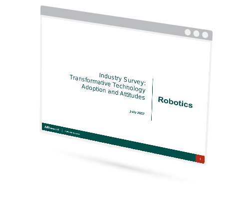 Industry Survey: Transformative Technology Adoption and Attitudes - Robotics Image