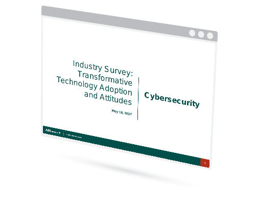 Industry Survey: Transformative Technology Adoption and Attitudes - Cybersecurity Image