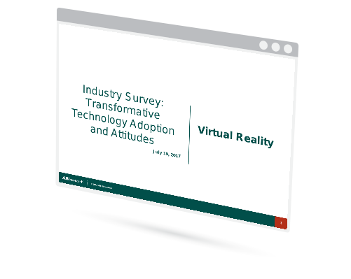 Industry Survey: Transformative Technology Adoption and Attitudes - Virtual Reality Image