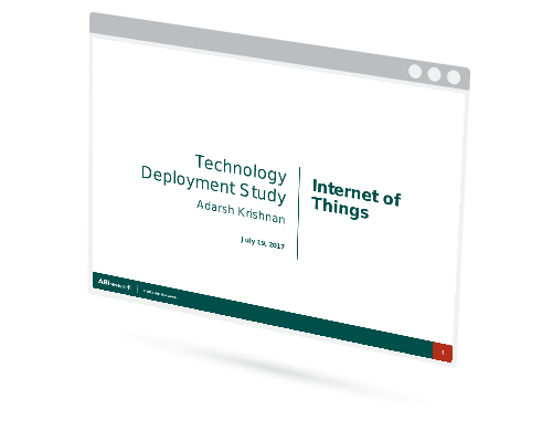 Industry Survey: Transformative Technology Adoption and Attitudes - Internet of Things Image