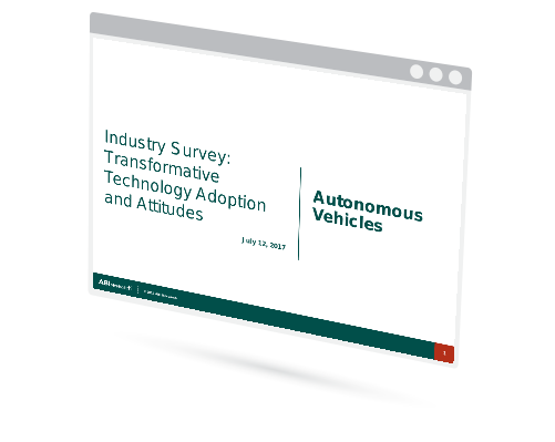 Industry Survey: Transformative Technology Adoption and Attitudes - Autonomous Vehicles Image