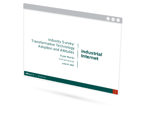 Industry Survey: Transformative Technology Adoption and Attitudes - Industrial Internet Image