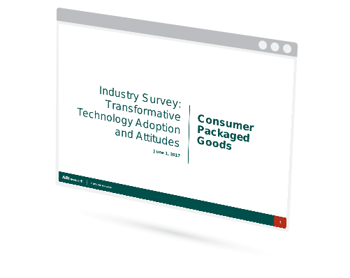Industry Survey: Transformative Technology Adoption and Attitudes - Consumer Packaged Goods Image
