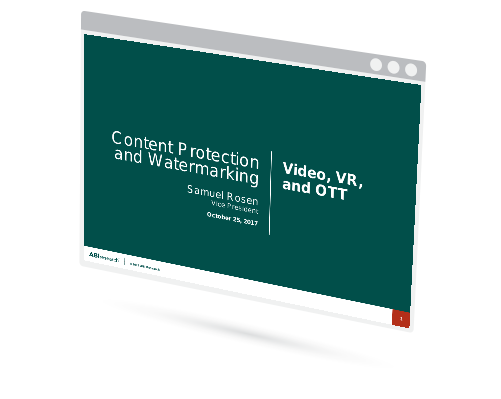 Content Protection and Watermarking: Video, VR, and OTT Image