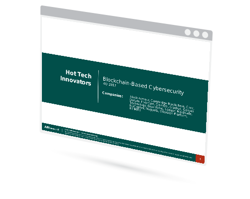 Hot Tech Innovators: Blockchain Based Cybersecurity Image