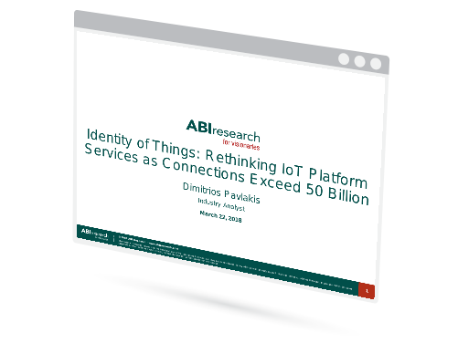 Webinar: Identity of Things - Rethinking IoT Platform Services as Connections Exceed 50 Billion Image