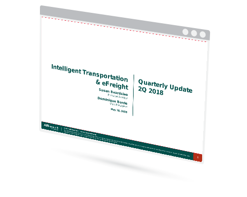 Intelligent Transportation & eFreight – Quarterly Update Image