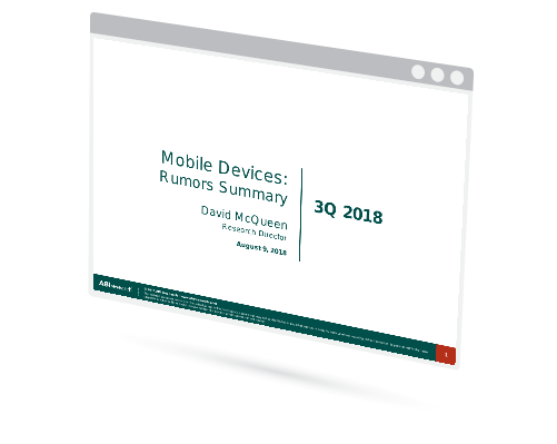 Mobile Device Rumors Report- 3Q 2018 Image