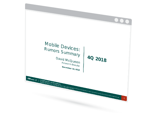 Mobile Devices: Rumor Summary 4Q 2018 Image