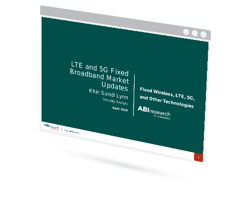 LTE and 5G Fixed Broadband Market Update Image