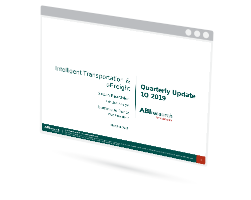 Intelligent Transportation & eFreight – Quarterly Update Image