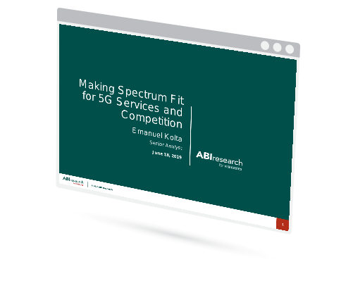 Making Spectrum Fit for 5G Services and Competition Image