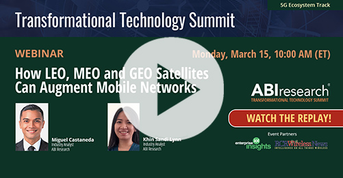 Transformational Technology Summit: How LEO, MEO and GEO Satellites Can Augment Mobile Networks Image